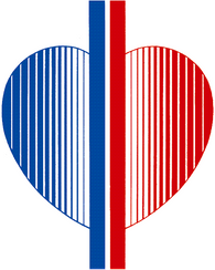 Logo der Praxis Dr. med. Junga - Ein Herz geteilt in den Farben blau und rot